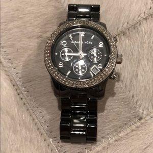 Graphite/Chrome colored Michael kors watch
